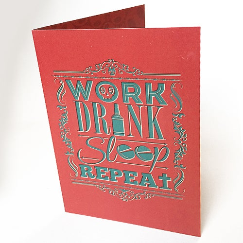 Image of Work Drink Sleep Repeat - Card