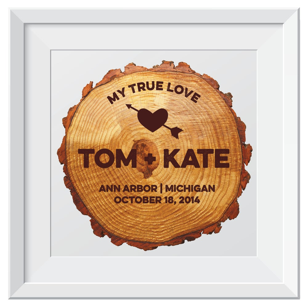 Image of Tree Ring Carving Wedding Print