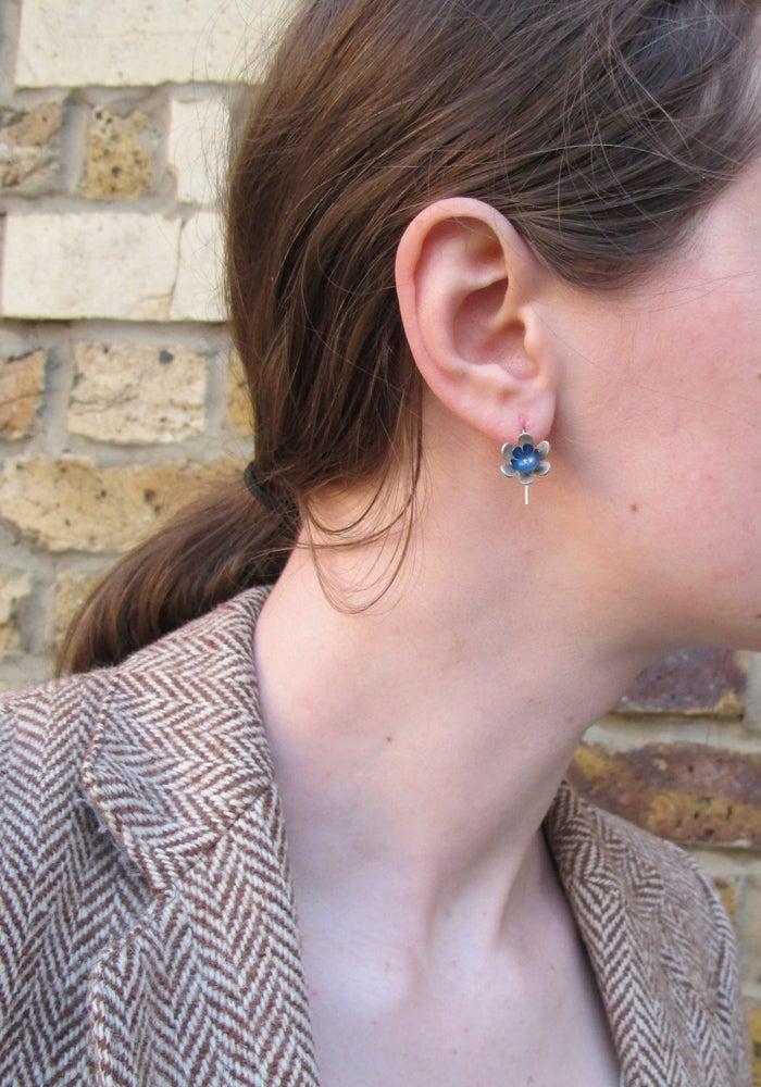 Image of Springtime Spring flower drop earrings