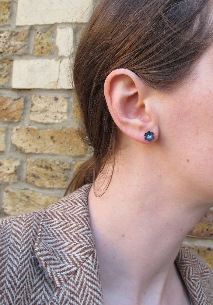 Image of Springtime Forget-me-not stud earrings