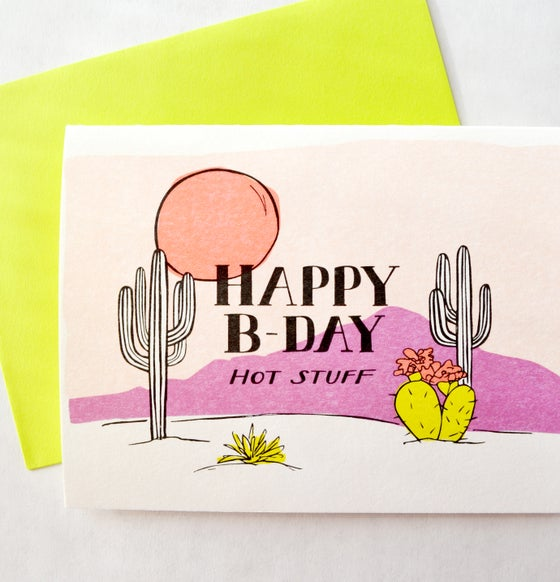 Image of HAPPY BDAY hot stuff - CARD