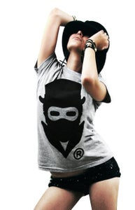 Image of Masked Logo (Heather grey) (Womens)