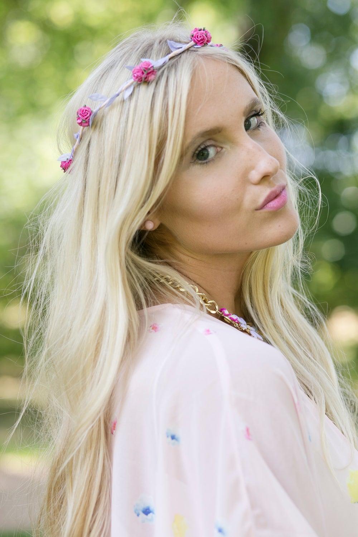 Image of Liberty Rose Garland Hot Pink and Lilac