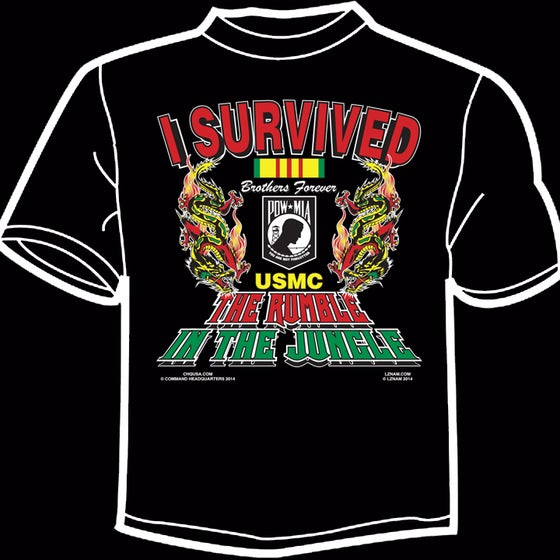 Image of I Survived the Rumble in the Jungle TEE - BLACK