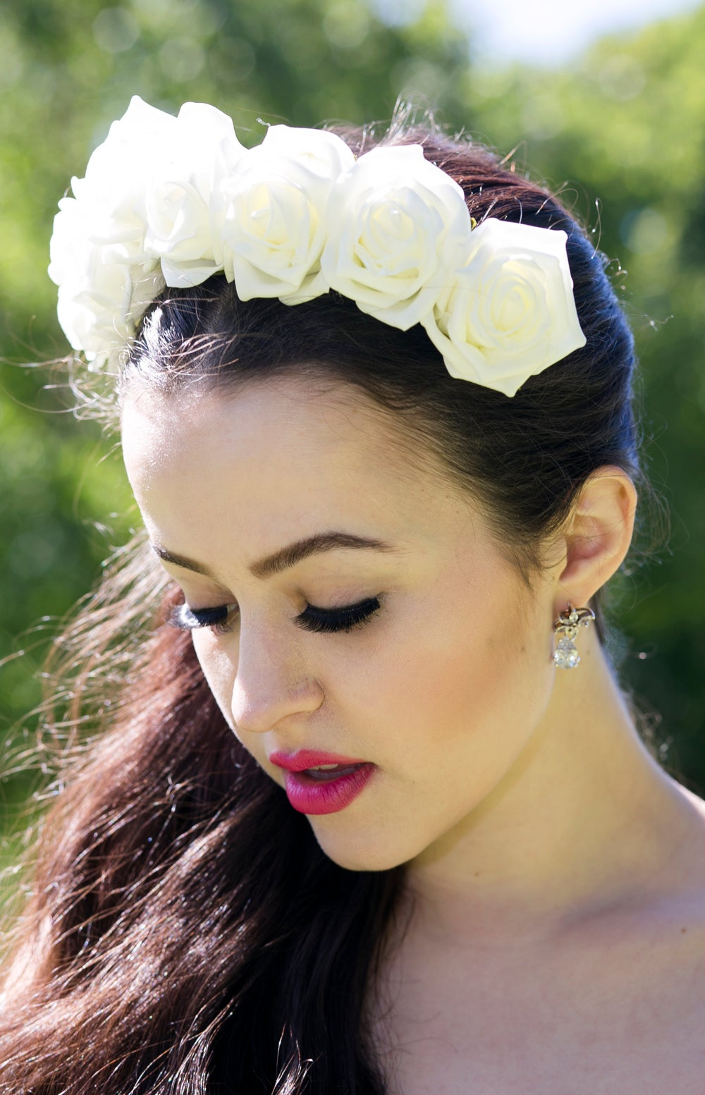 Image of Blooming Rose Crown in Ivory