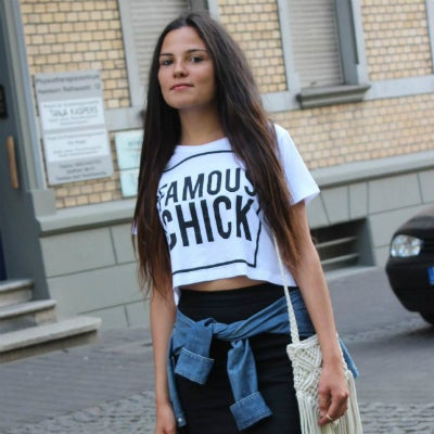 Image of Famous Chick crop top