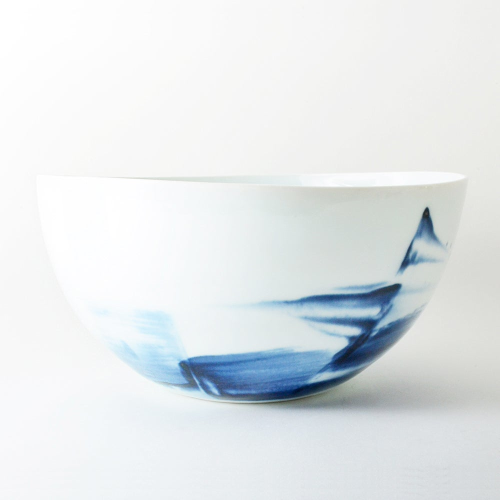 Image of blue and white porcelain bowl