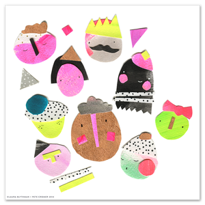 Image of Party Faces - Limited Edition Print