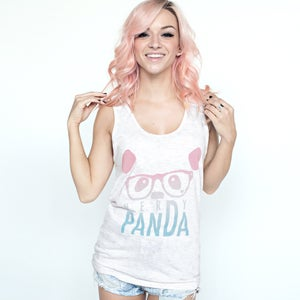 "Image of ""Nerdy Panda"" Gradient Tank Top (Tri-Oatmeal)"