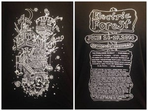 Image of Electric Forest Treehouse T-Shirt // BLACK