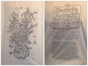 Image of Electric Forest Treehouse T-Shirt // WHITE