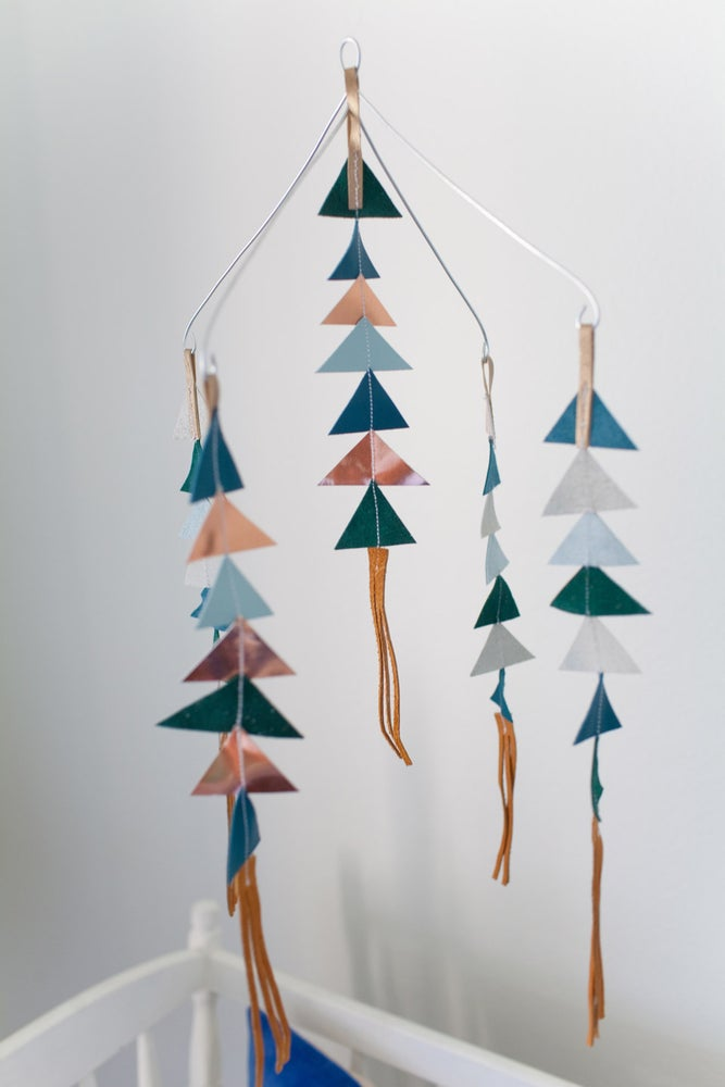 Image of The Leather Triangle Mobile in Gunner **NEW COLORS!