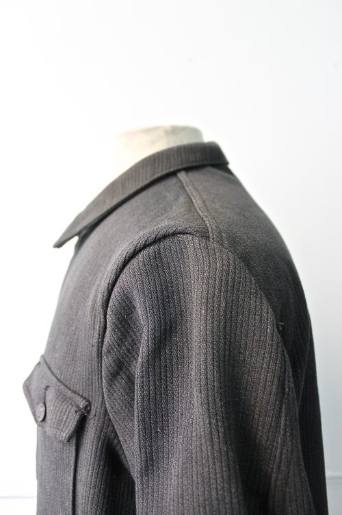 Image of 1940's FRENCH HUNTING SALT N' PEPPERf COUTIL CORD JACKET DEADSTOCK
