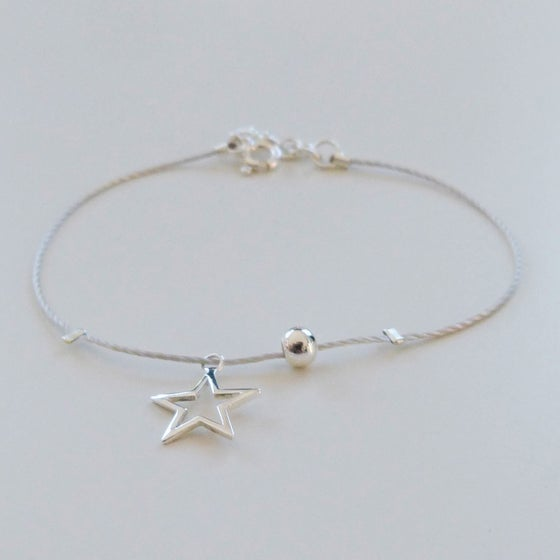 """Image of Bracelets en argent """"étoile filante"""""""