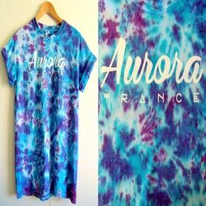 Image of Purple/blue rush tie dye t-shirt