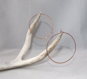 Image of Large Hammered Hoop Earrings
