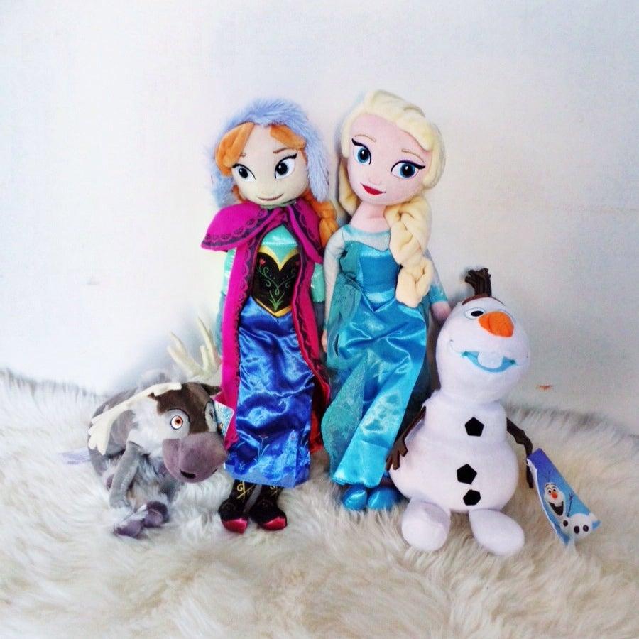 Image of Elsa, Anna, Sven & Olaf - Frozen Plush Toys