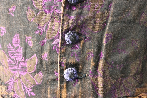 Image of 1870's FRENCH FLORAL WAISTCOAT FADED