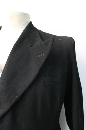 Image of 1940'S FRENCH DOUBLE BREASTED WOOL BLAZER フレンチウールダブルブレストジャケット