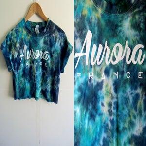Image of Aqua dreams tie dye crop top
