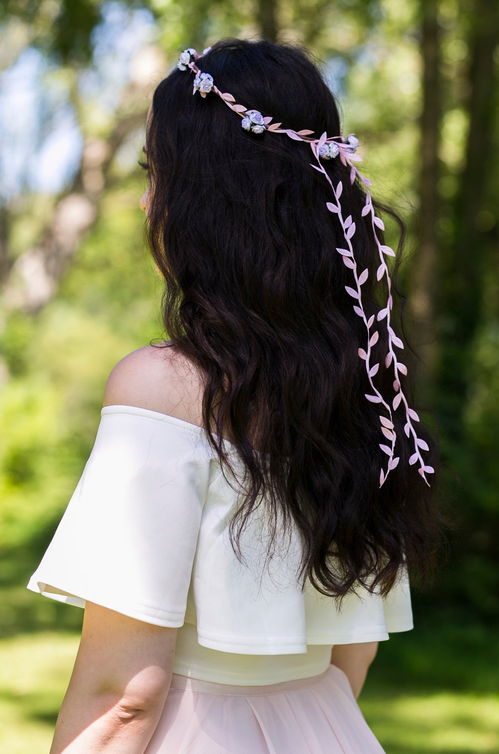 Image of Liberty Rose Garland Pale Lilac, Brown and Pink