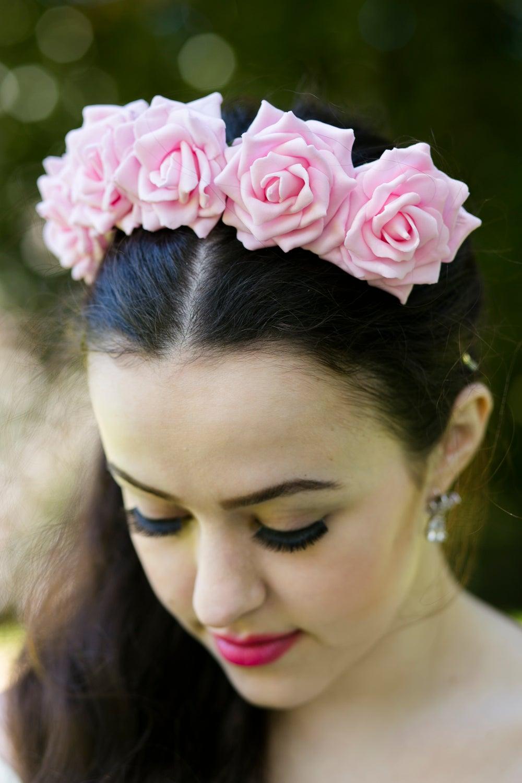Image of Wild Rose Crown Pastel Pink