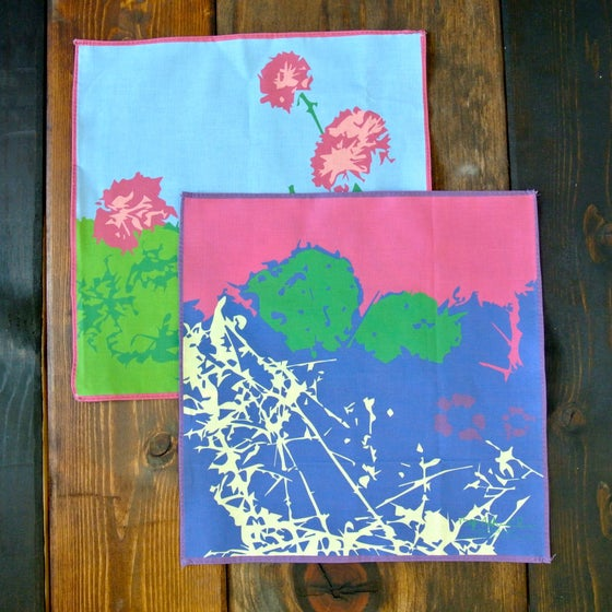 Image of Cactus and Flowers Pocket Square
