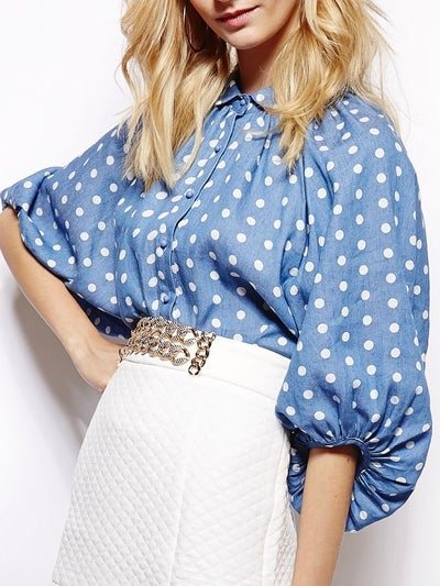 Image of Denim and dots