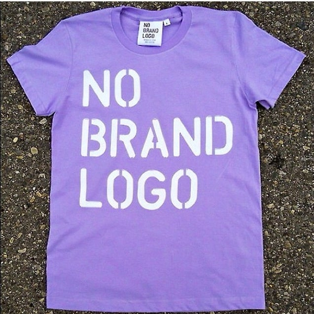 Image of Women's No Brand Logo stencil t-shirt