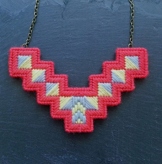 Image of Coral 'Geo' Necklace