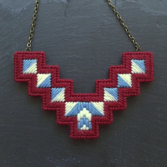 Image of Purple 'Geo' Necklace