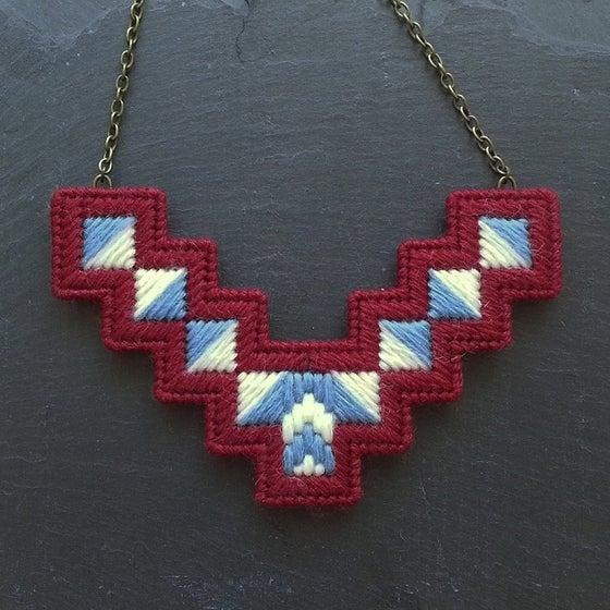 Image of Purple 'Geo' Necklace