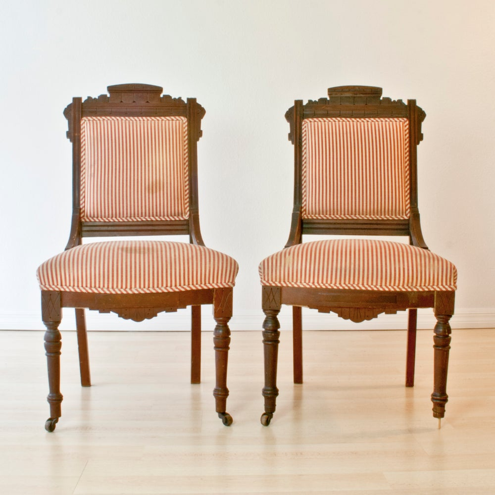 Antique Eastlake Dining Chairs X2 Dominique Provost