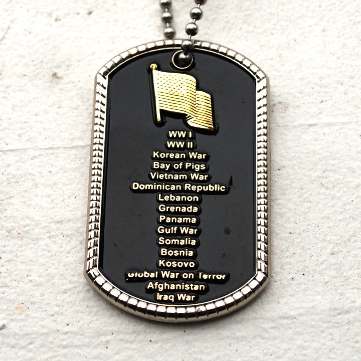 Image of Battlefield Cross / Fallen Soldier Dog Tag.
