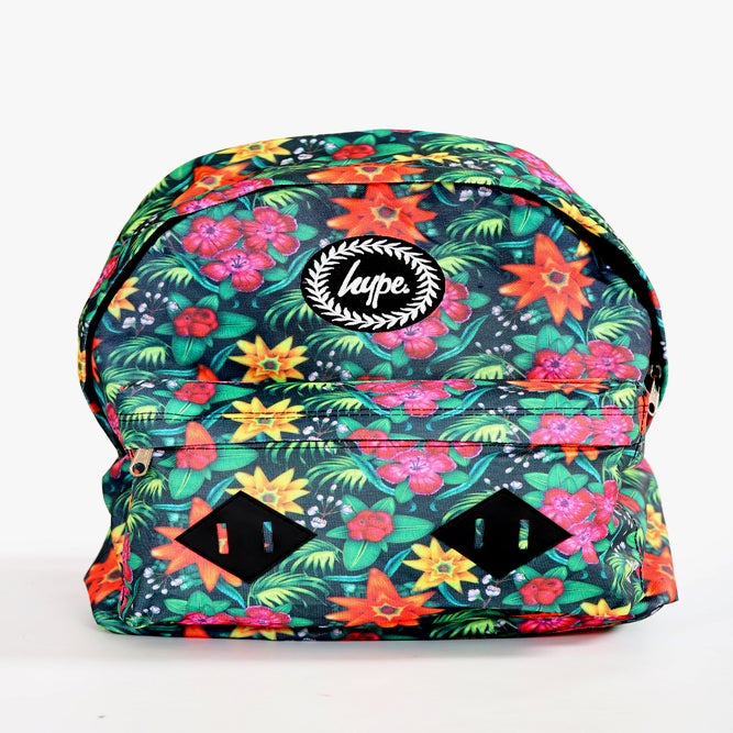 Image of HYPE.TROPICAL FLORAL GREEN BACKPACK