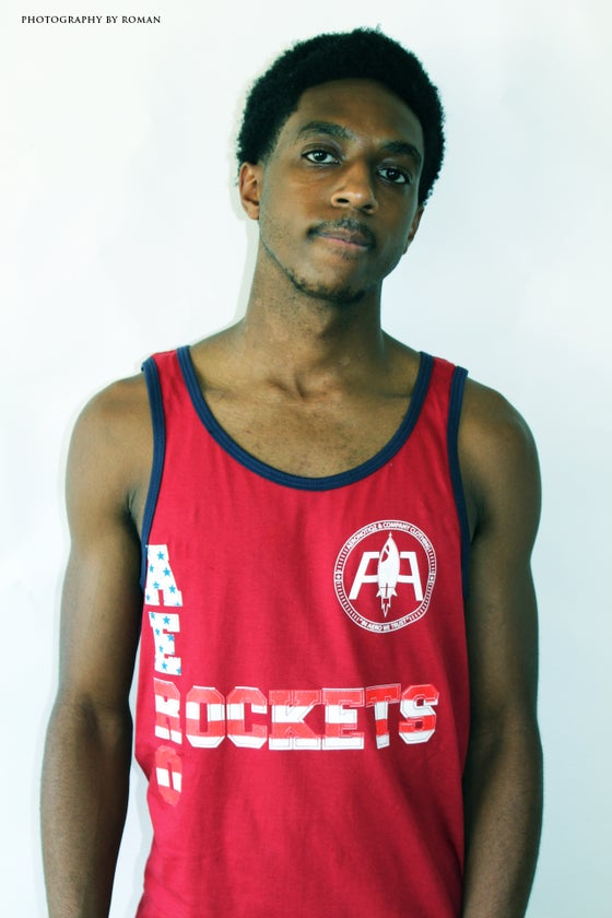 "Image of Red & Navy 2-Tone ""Aero-Rockets"" Tank Top USA Colorway"