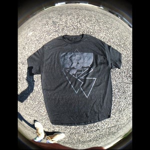 Image of REMIO; Classic Black R on Black Tee