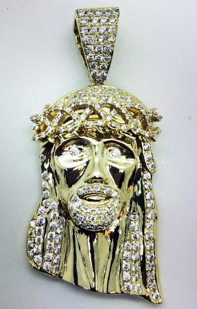 "Image of Large ""Corona de Espinas"" Jesus Piece"