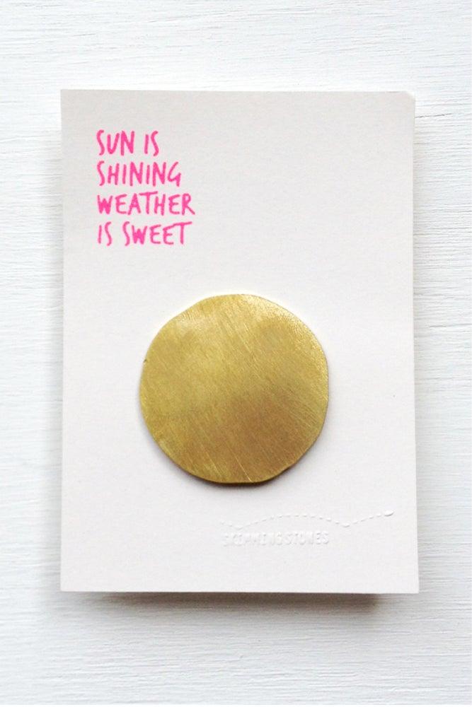 Image of Sun - Brooch