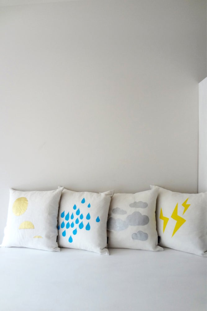 Image of Lightning - Cushion WAS $49 ::: SOLD OUT :::