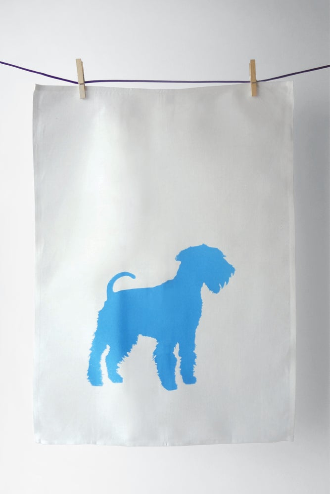 Image of King of Terriers in Cyan - Tea Towel :: SOLD OUT ::