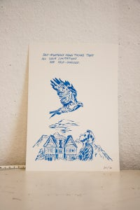 "Image of Limited Edition ""Hungover Bear and Friends"" Prints//Limitations"