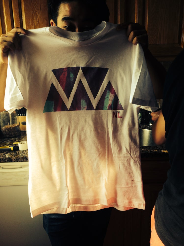 Image of Hand-Made Silk Screened Tshirt