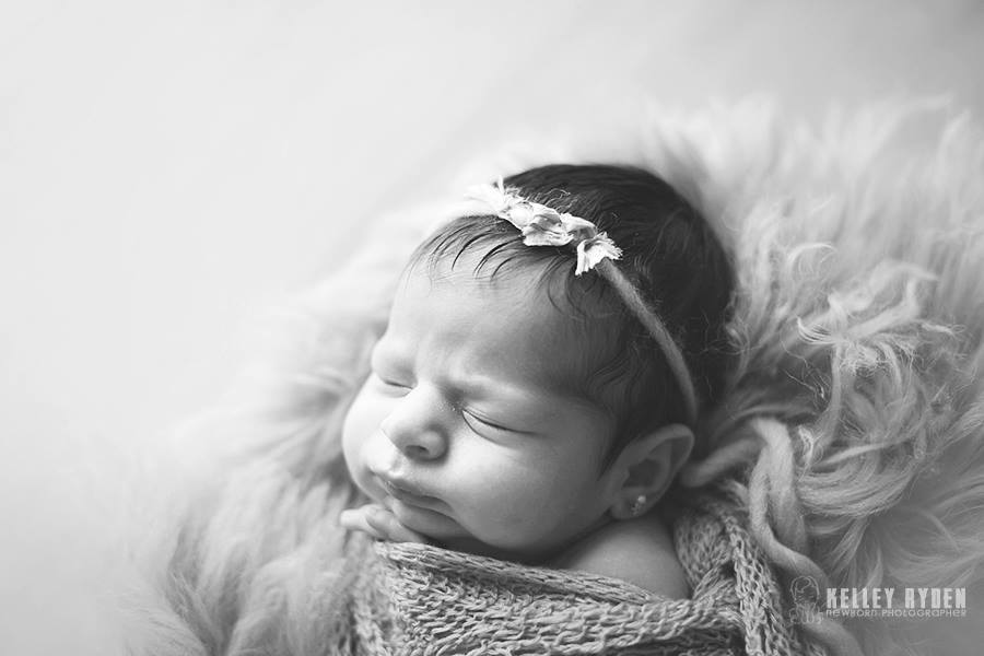 Image of {Raw Silk Ruffle} Newborn Headband