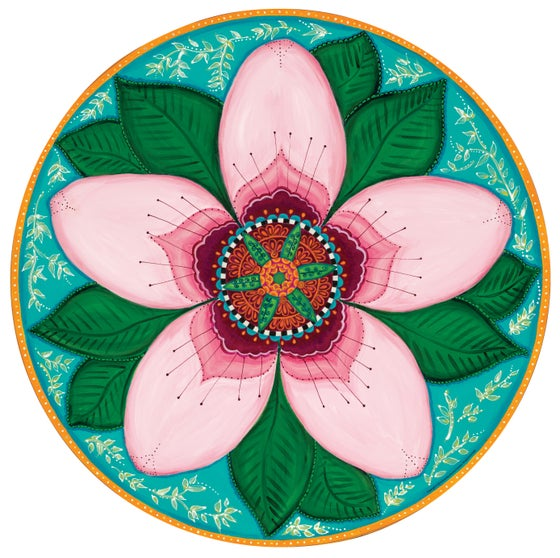 "Image of ""Strength and renewal""- Cherry Blossom Meditation Mat"