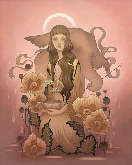 "Image of ""After The Rain""<br><h4>-hand embellished-</h4><br><h4>-print-</h4>"