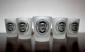 Image of Frosted Chamber Shot Glasses