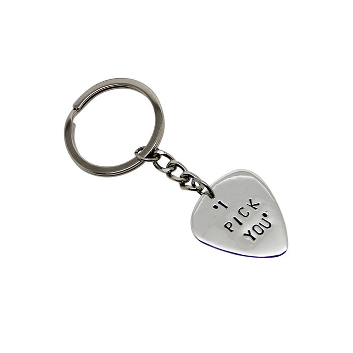 Image of Personalised Guitar Pick Key Chain