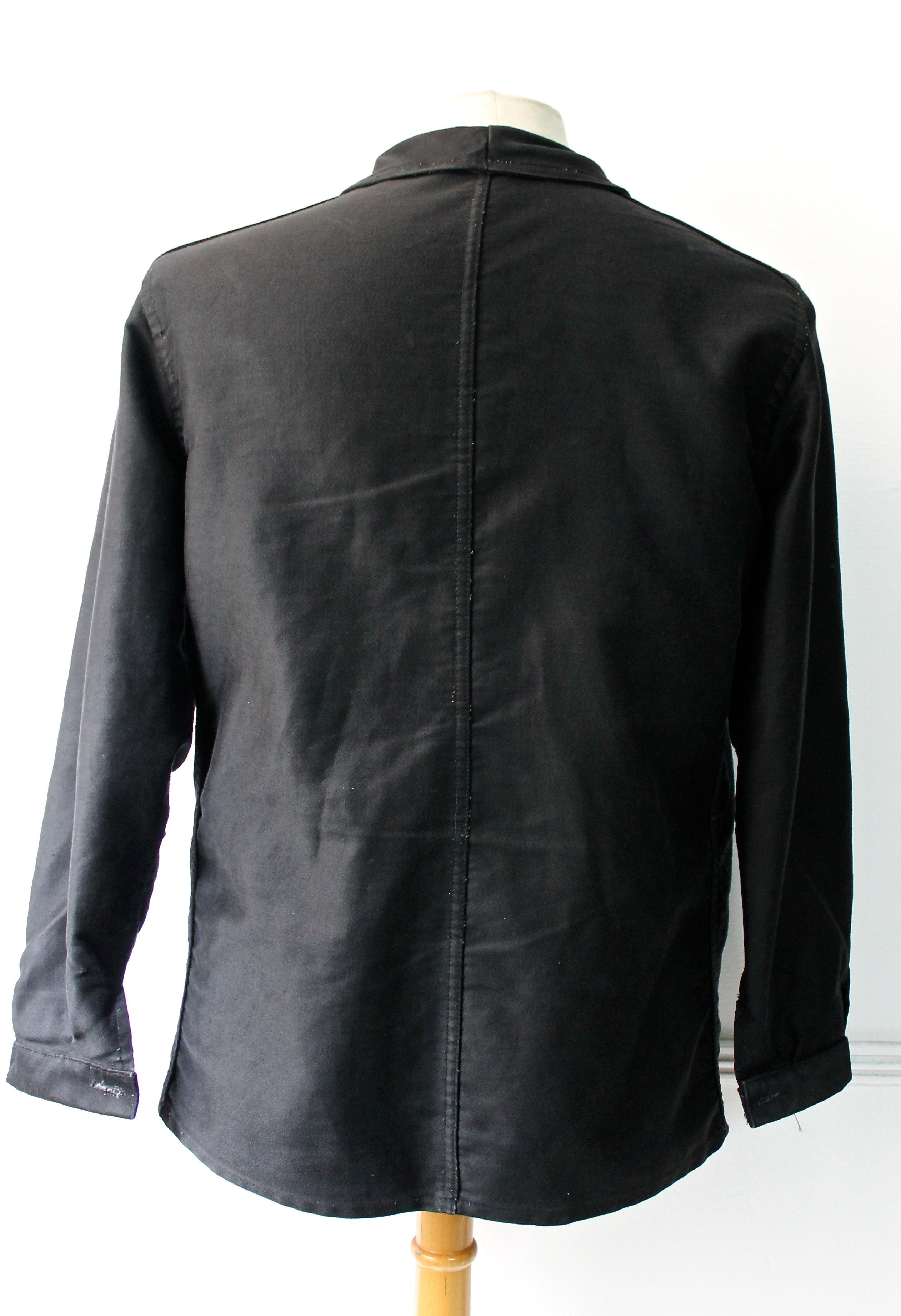 Black french work jacket