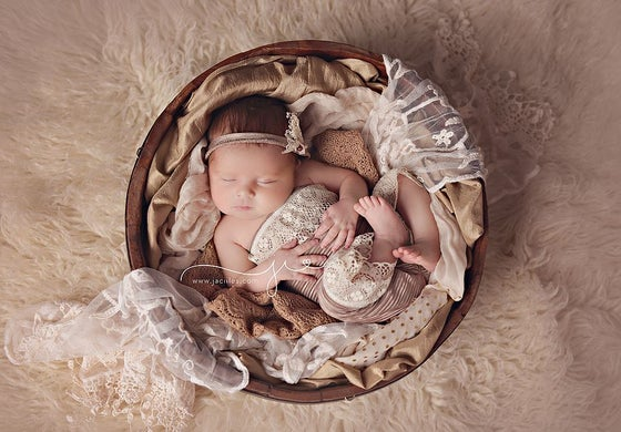 Image of Newborn Romper and Tie Back